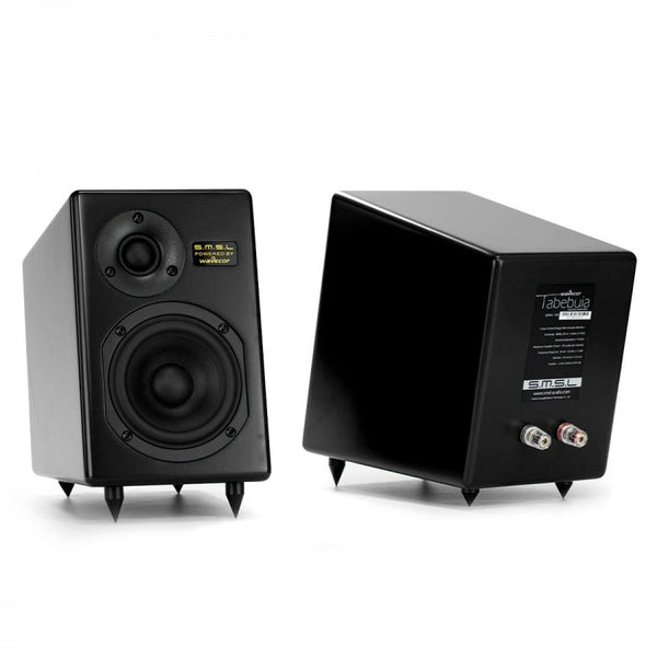 SMSL TABEBUIA WAVECOR Bookshelf Speakers 2 Way 100W 4Ω Black (Pair) - Audiophile Store