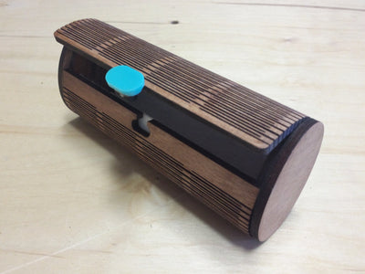 Wood Sunglass Case - side