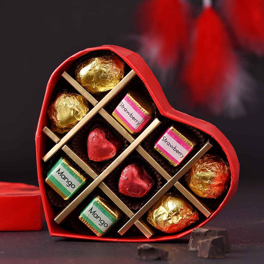 Valentine's Heart Chocolate Box