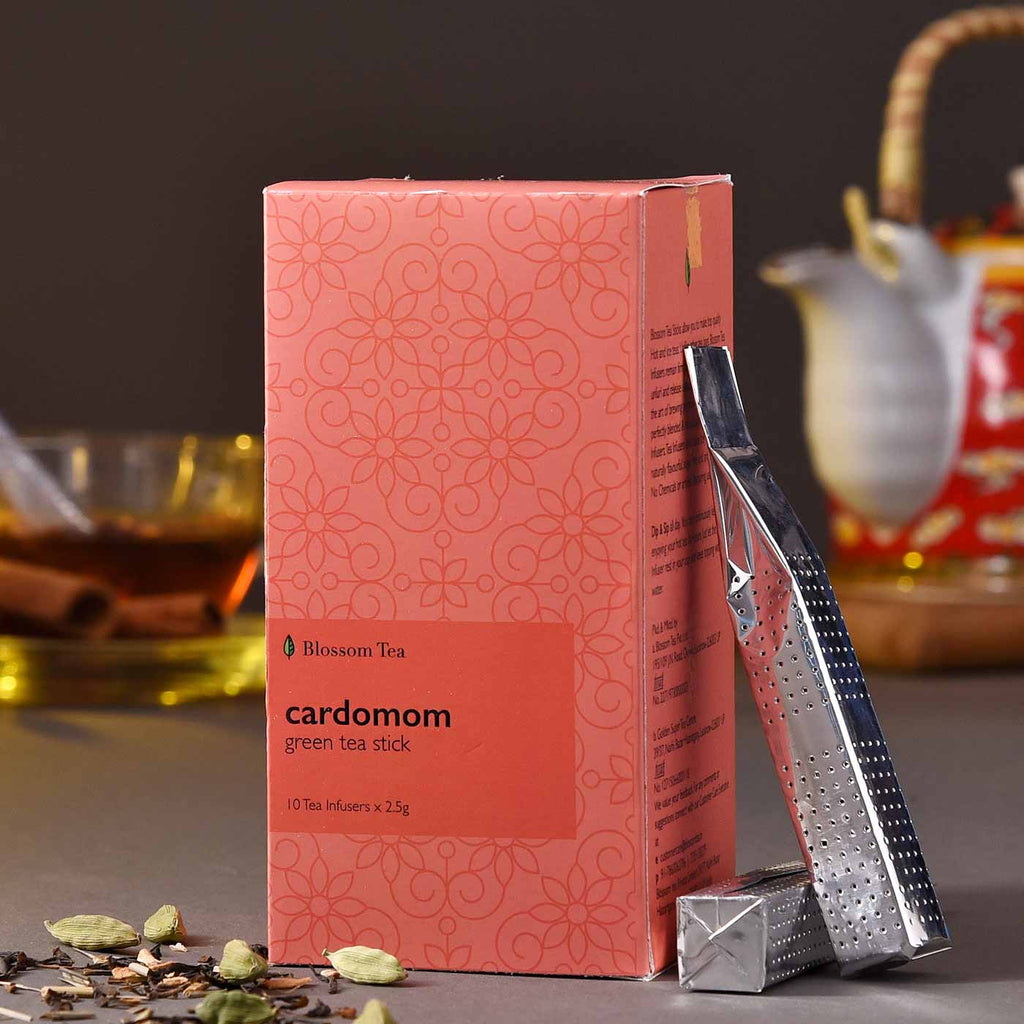 Healthy & Refreshing Cardomom Green Tea Sticks