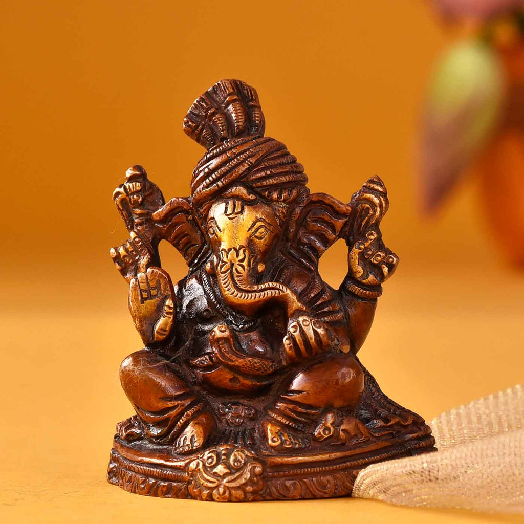 Majestic Ganesha Brass Idol