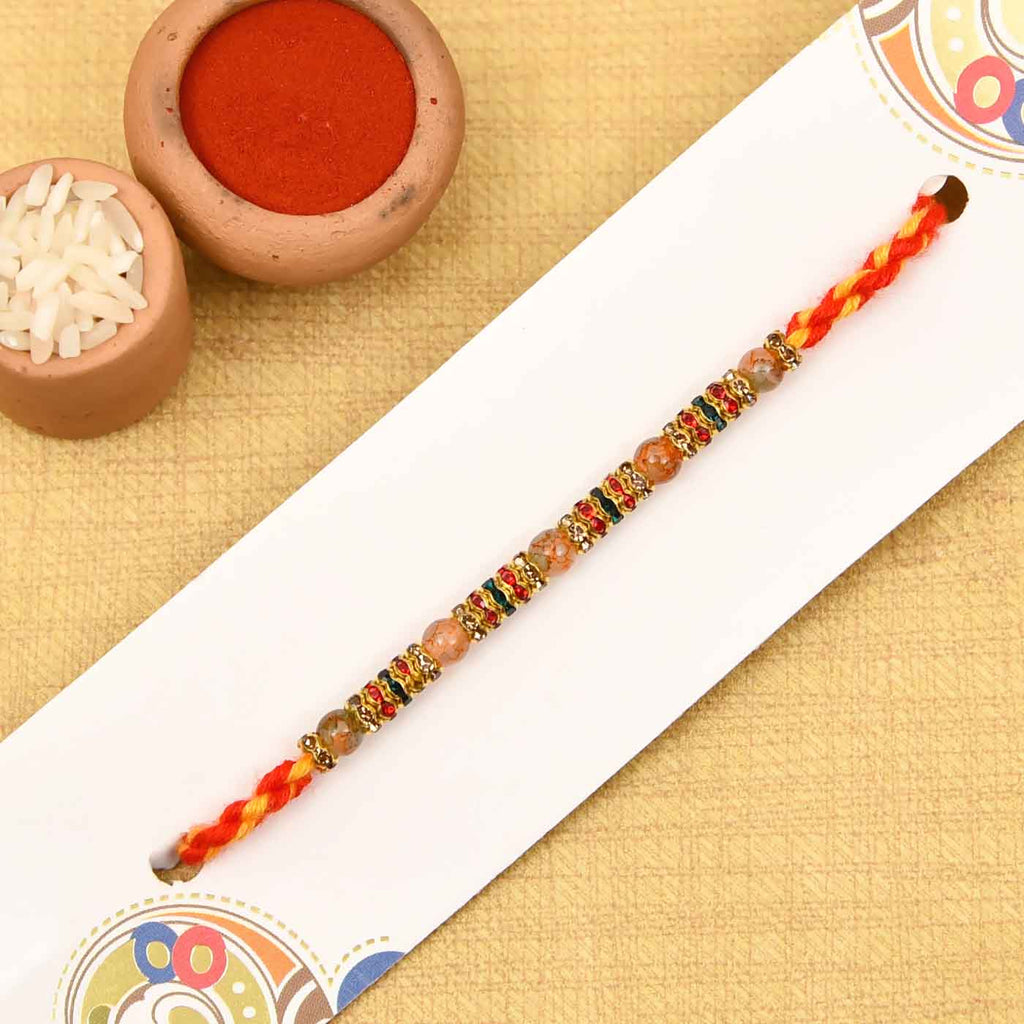 Creative Beads & Stone Work Rakhi Thread