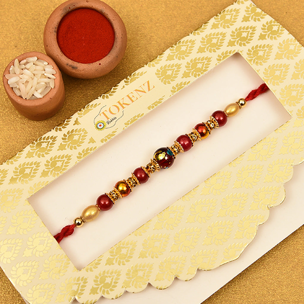 Exclusive Stones & Pearls Rakhi Thread