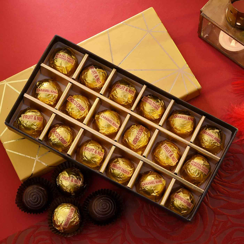 Golden Elegant Flavored Chocolates
