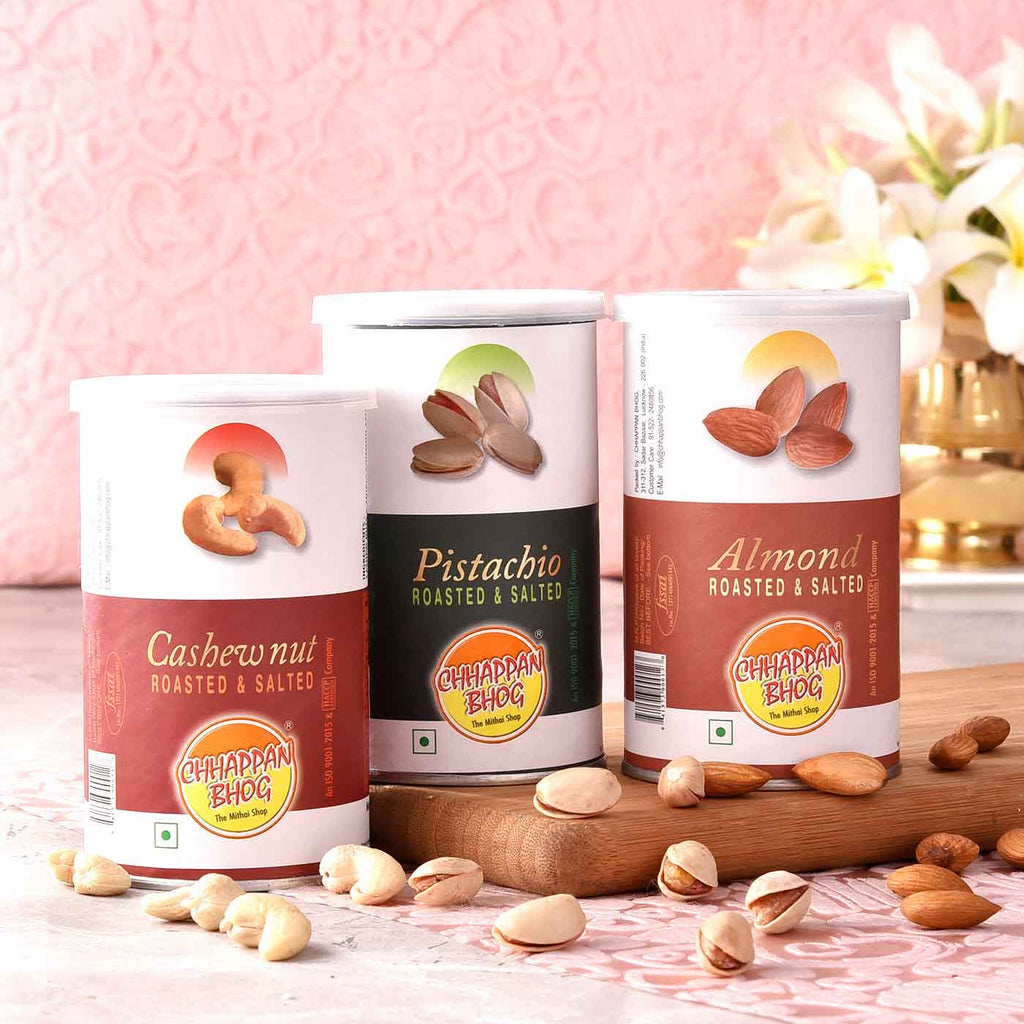 Delicious CANs Of Cashewnuts, Almond & Pistachios