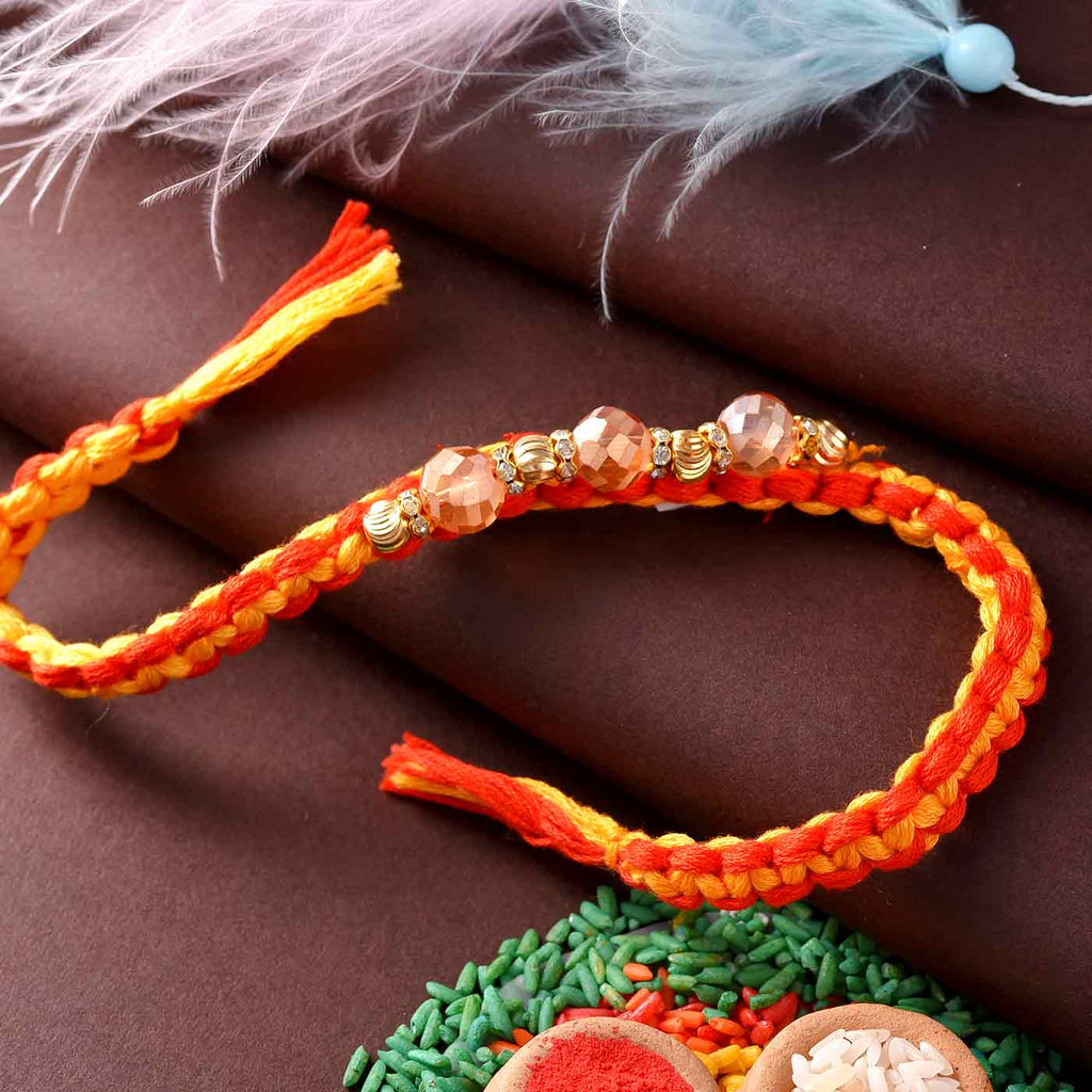 Traditional Dazzling Pearls Rakhi