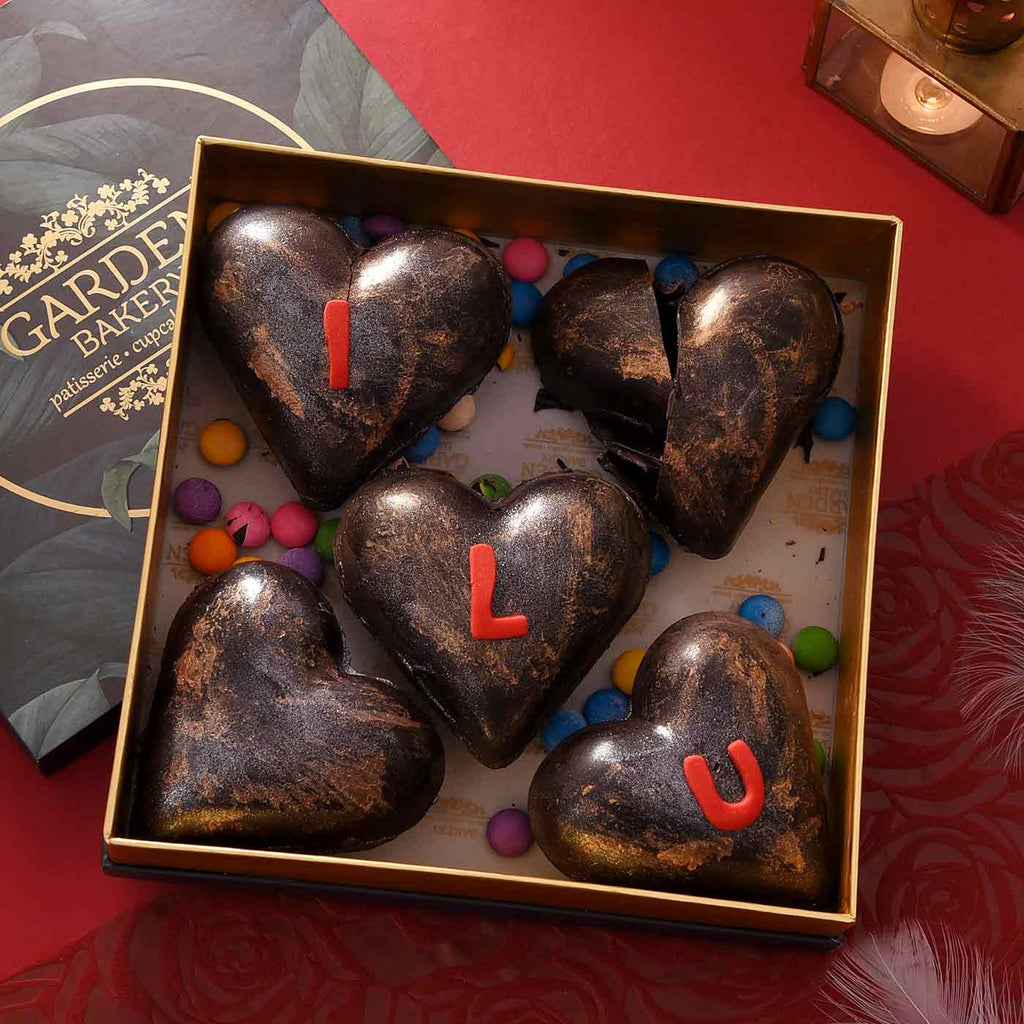 Heart Shaped Romantic Message Chocolate Box