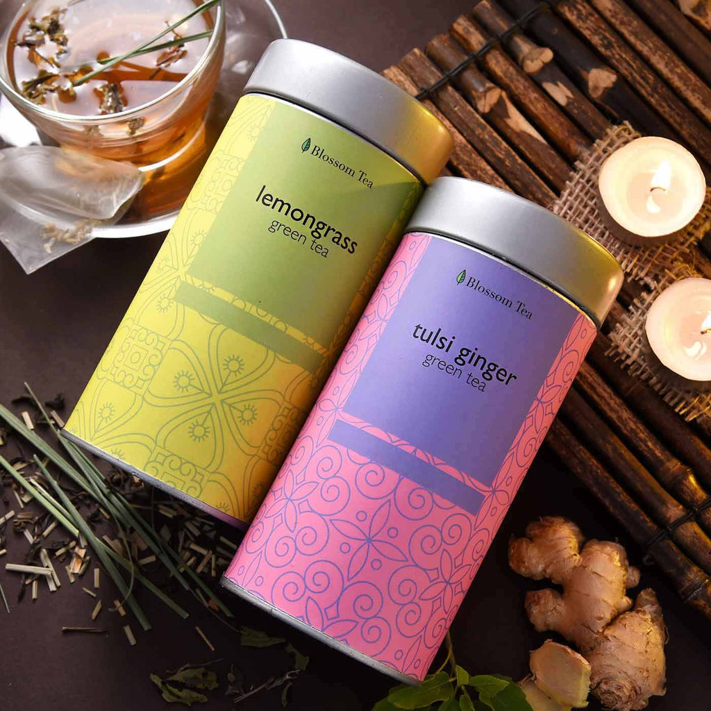Exclusive Combo Of LemonGrass & Tulsi Ginger Green Tea