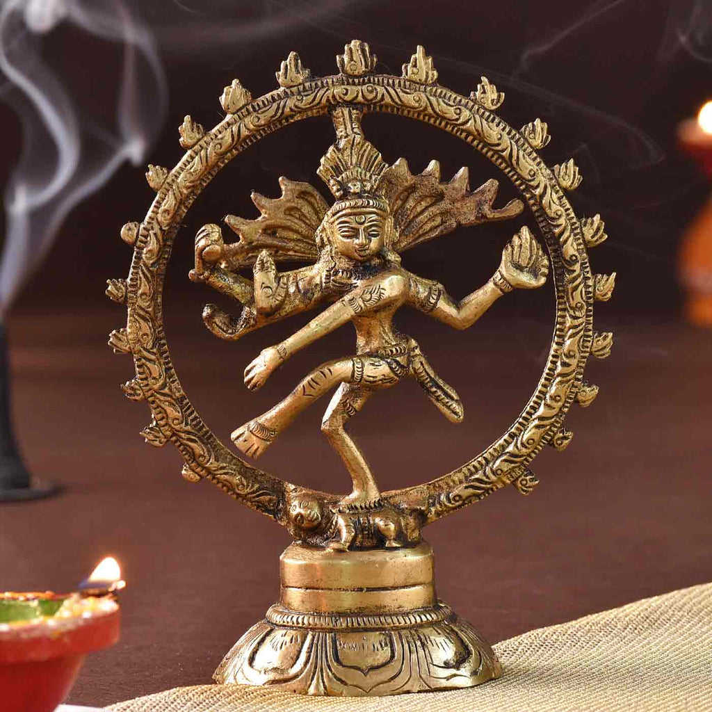 Handcrafted Dancing Brass Idol Of Nataraj