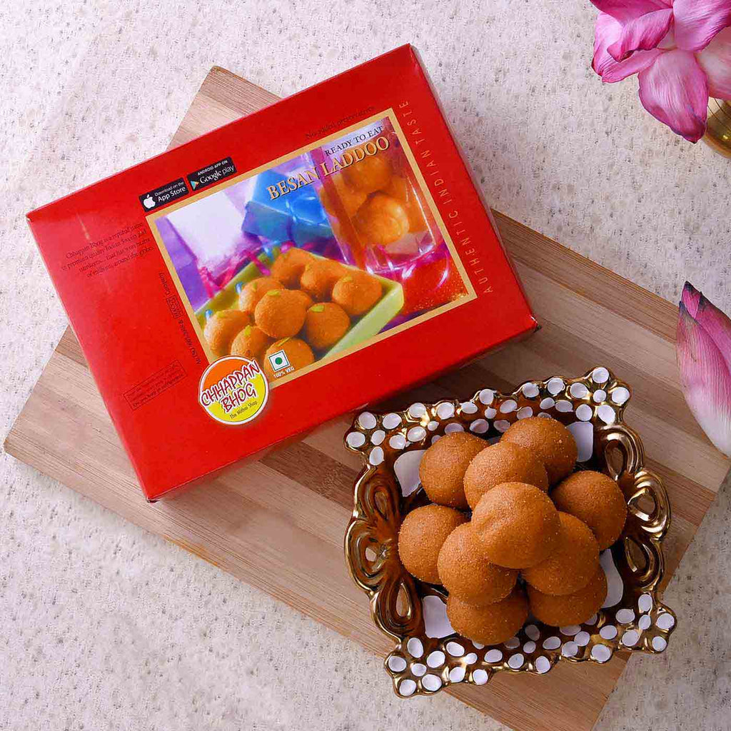 Delicious Box Of Besan Laddoos
