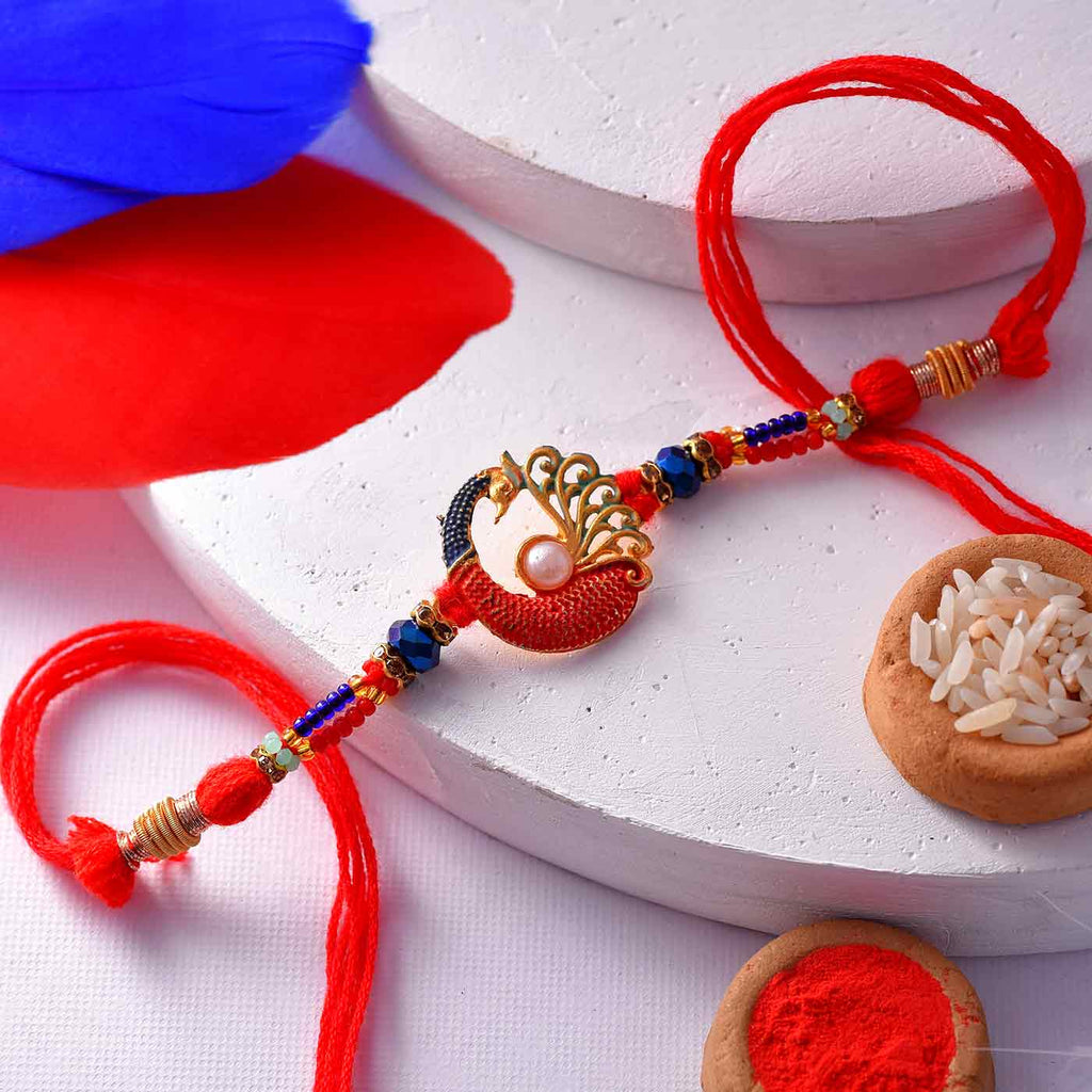 Attractive Designer Beaded Rakhi