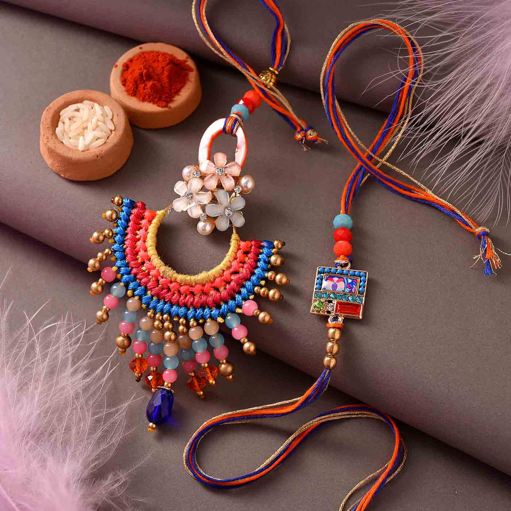 Fancy Beads Rakhi Set