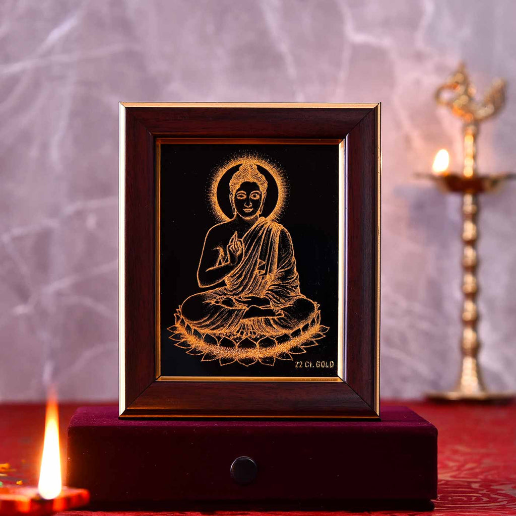 Enlightened Buddha Gold Frame