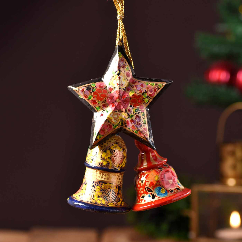 Papier Mâché Christmas Decoratives Of Star & Bells