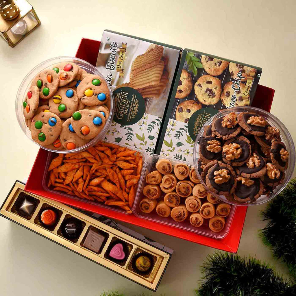 Exceptional Hamper Of Cookies, Namkeen & Chocolate