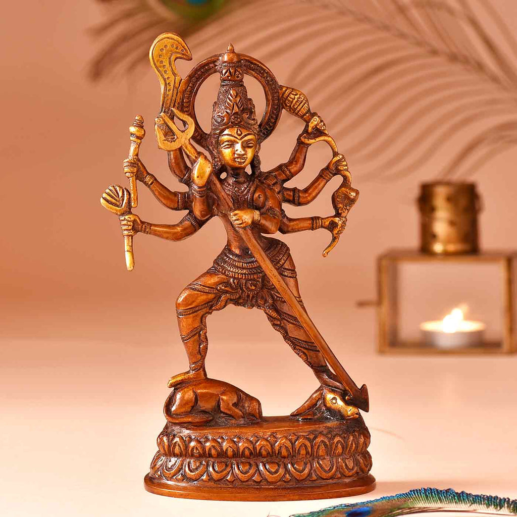 Magnificent Jaya Durga Brass Idol