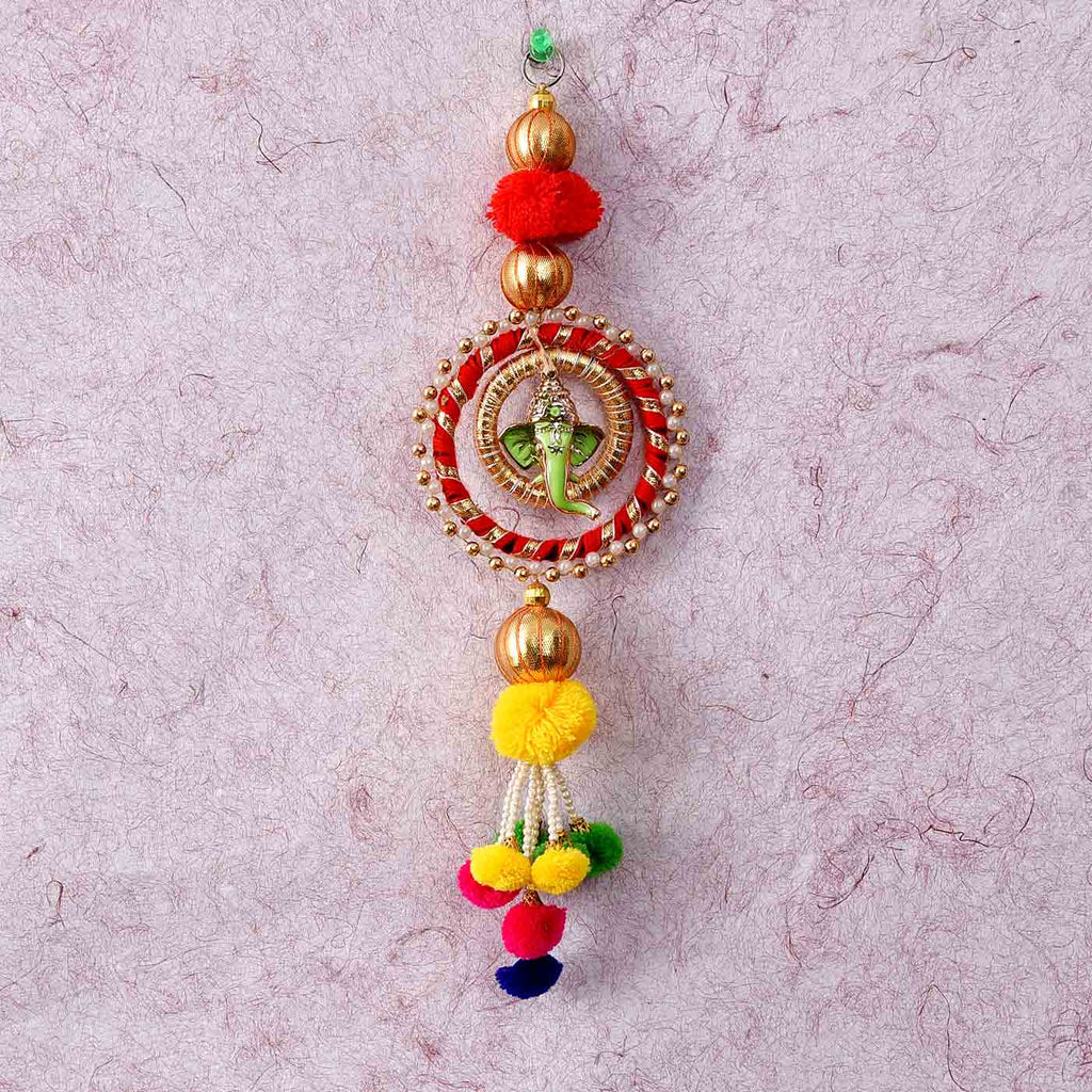 Ganesha Plush Beaded Wall Hanging