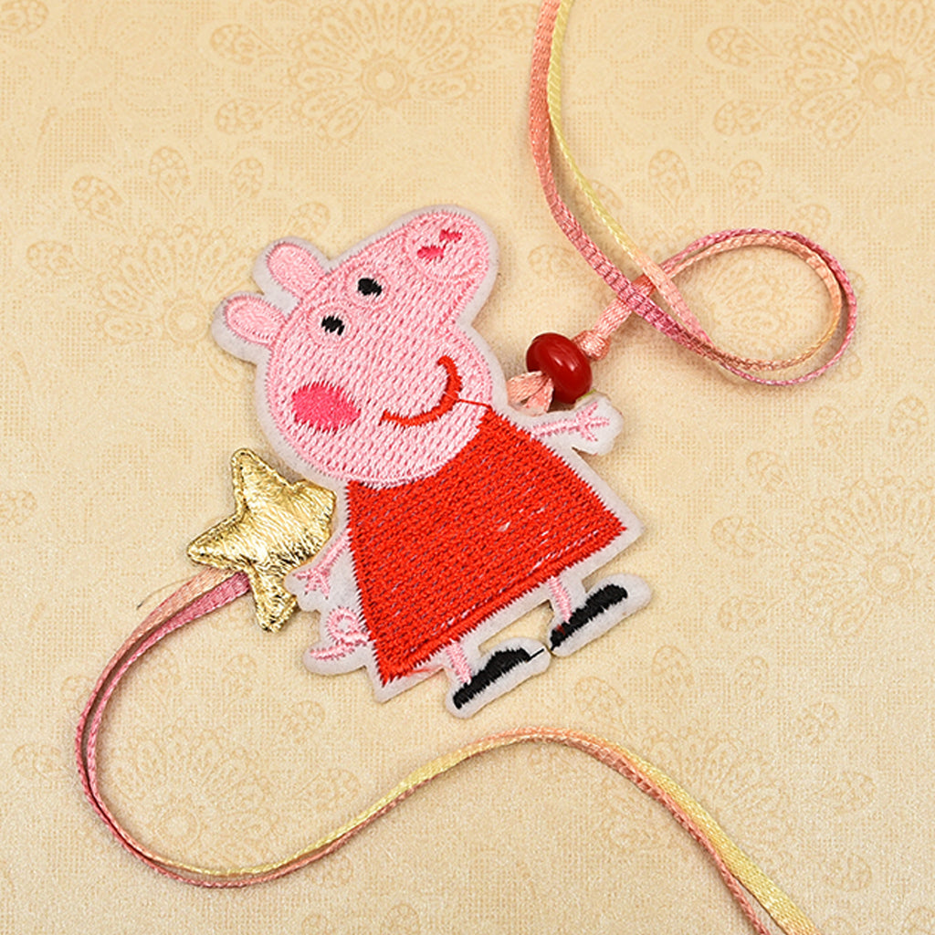 Cute Kid's Penga Pig Starry Rakhi