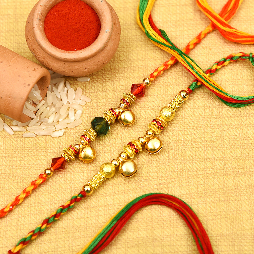Amazing Set Of 2 Ghungroos Rakhis