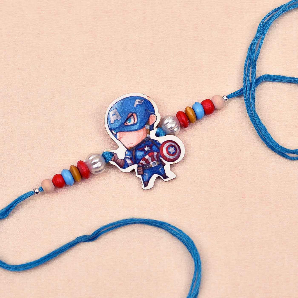 Kid's SuperHero & Colorful Beads Rakhi
