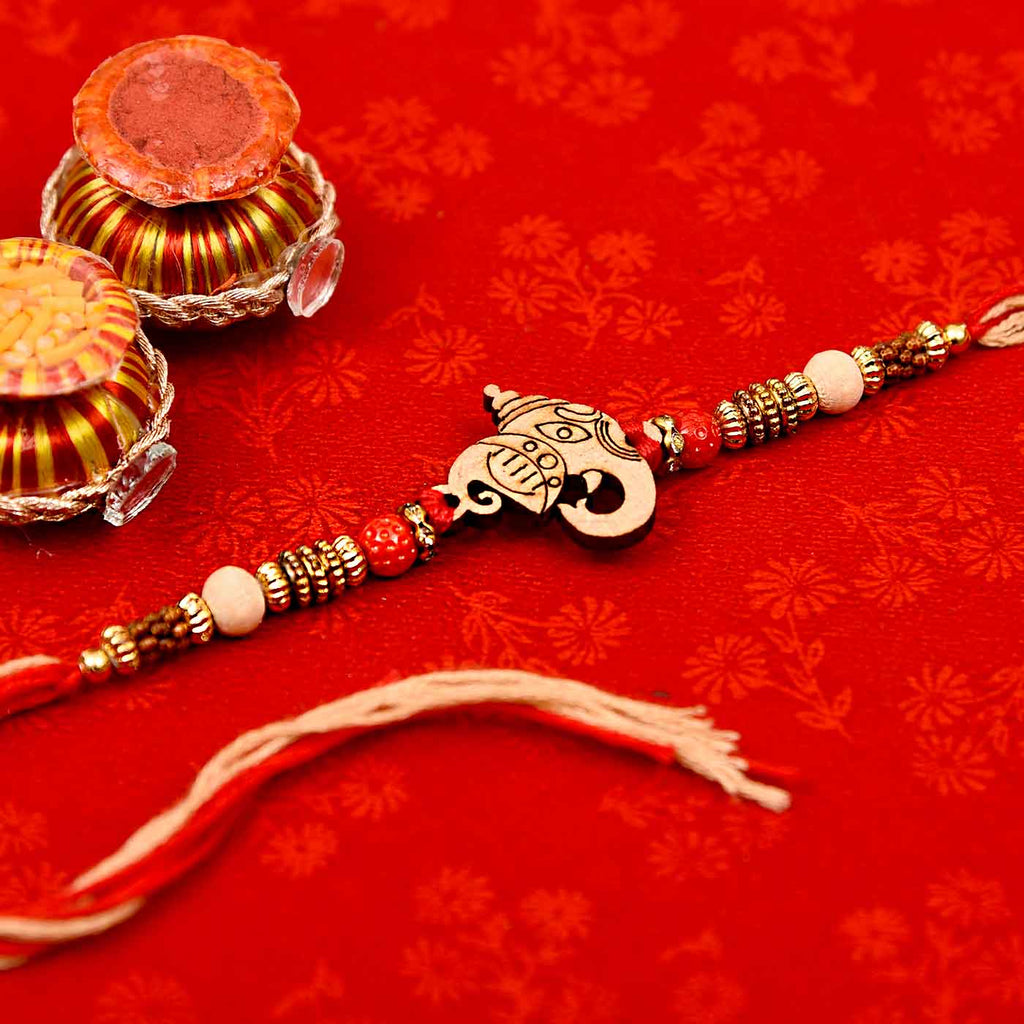 Traditional Ganesha & Beads Rakhi