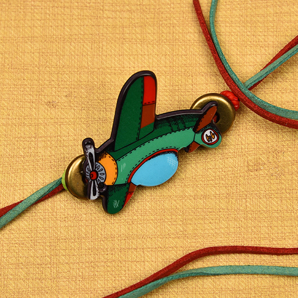 Colorful Airplane Kid's Rakhi