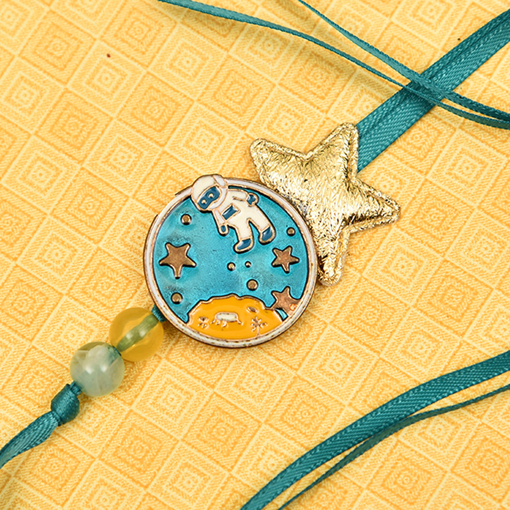 Cute Astronaut Kid's Rakhi