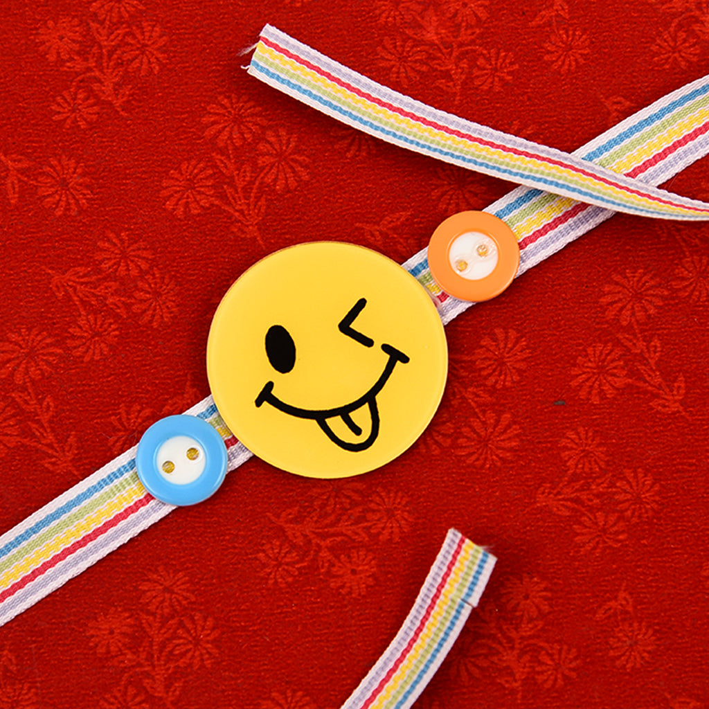 Awesome Smiley & Buttons Rakhi