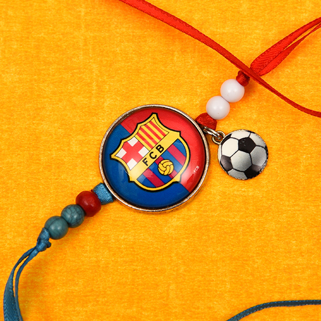 Trendy FCB Soccer Rakhi For Brother