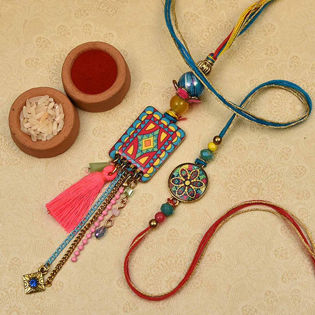 Striking Modern Art Work Bhaiya Bhabhi Rakhis