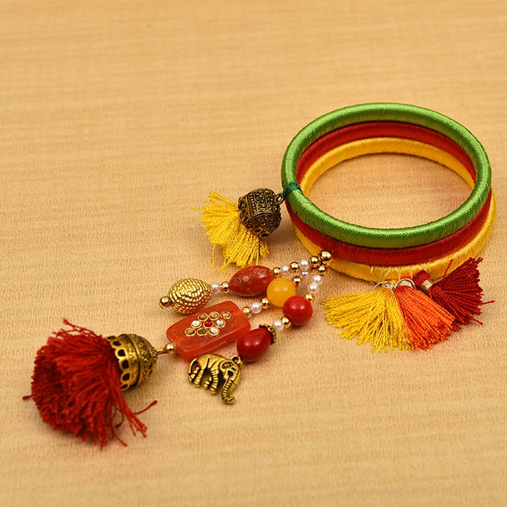 Beautiful Kadi Kundan Bangle Bhabhi Rakhi