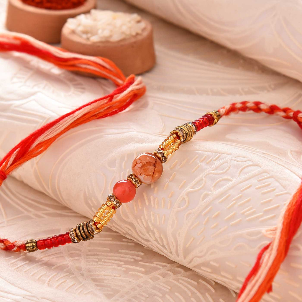 Fancy Beads & Crystal Rakhi