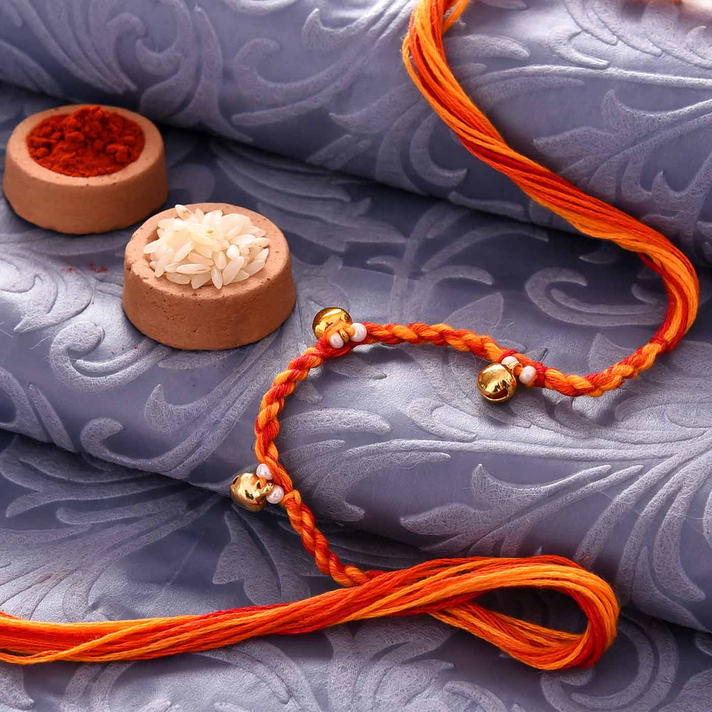 Stunning Ghungroos & Multicolored Thread Rakhi