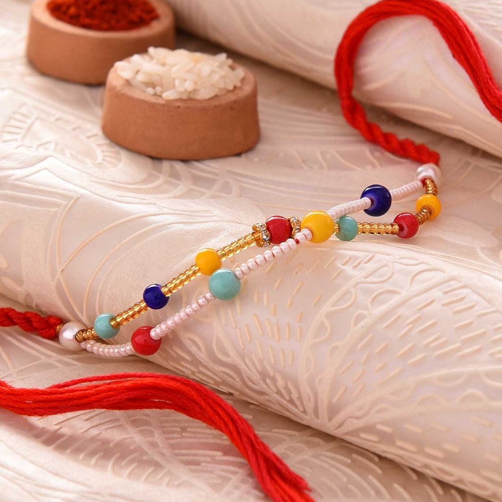Colourful Beaded Rakhi Thread