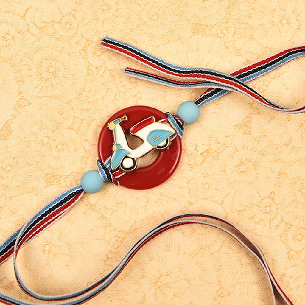 Cute Kid's Scooter & Beads Rakhi