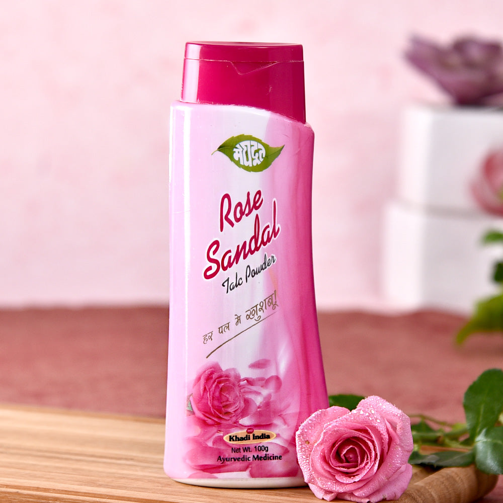 Khadi Rose Sandal Talc Powder 100 gms