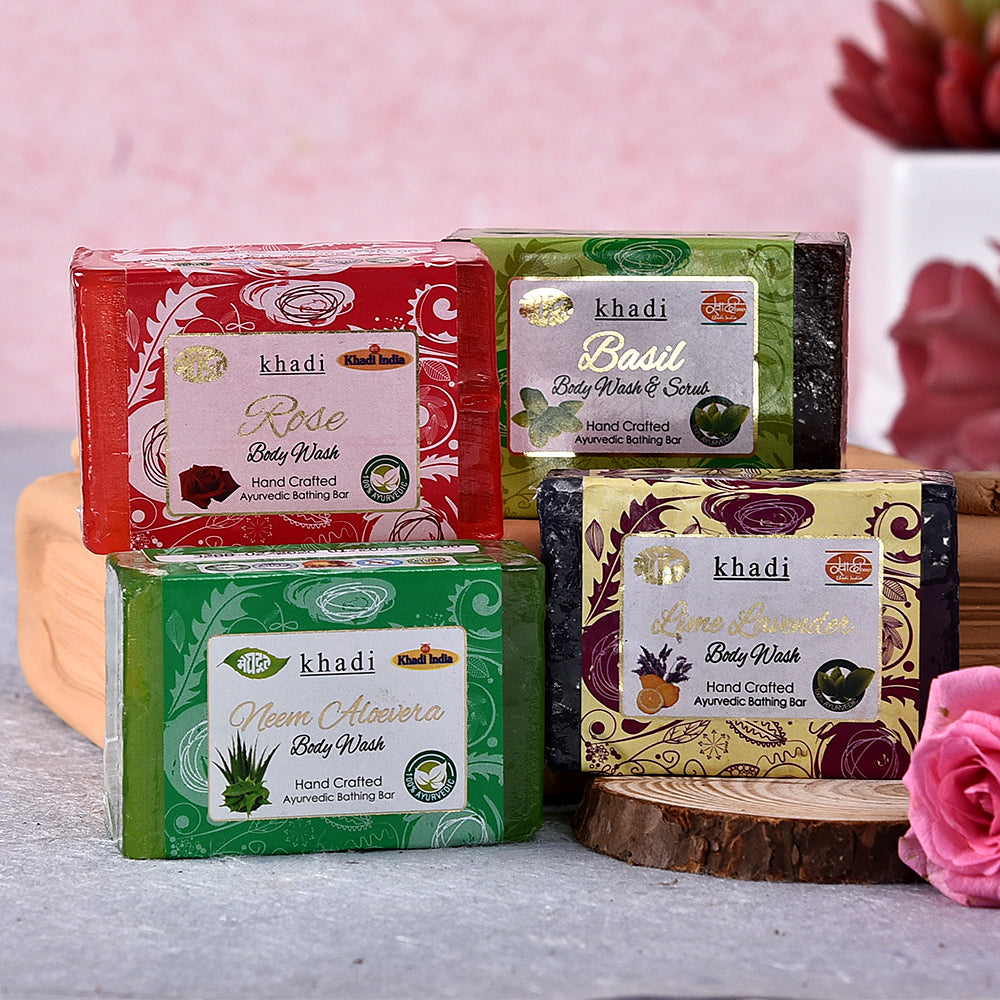 Khadi Set Of 4 Body Wash Soaps