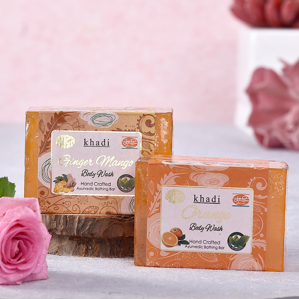 Khadi Ginger Mango & Orange Soaps