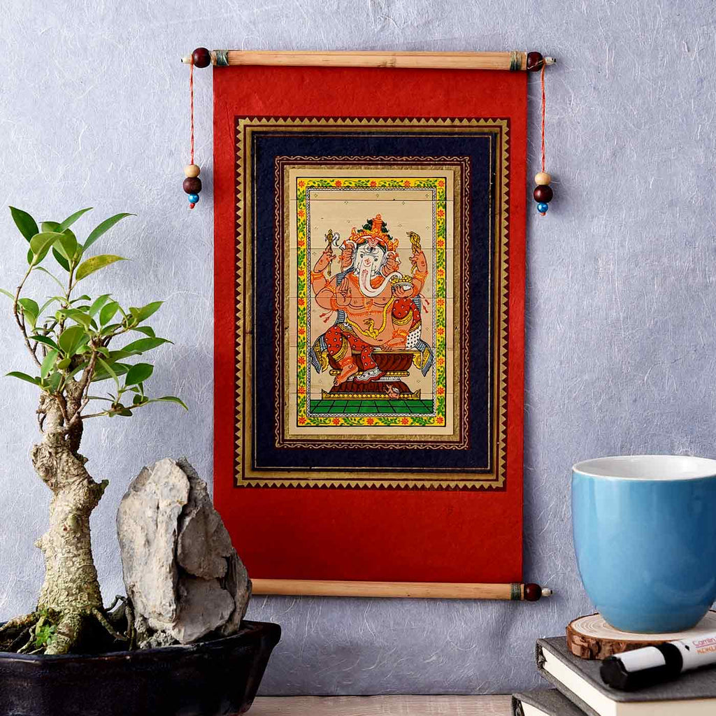 Ganesha In Tranquility Painting