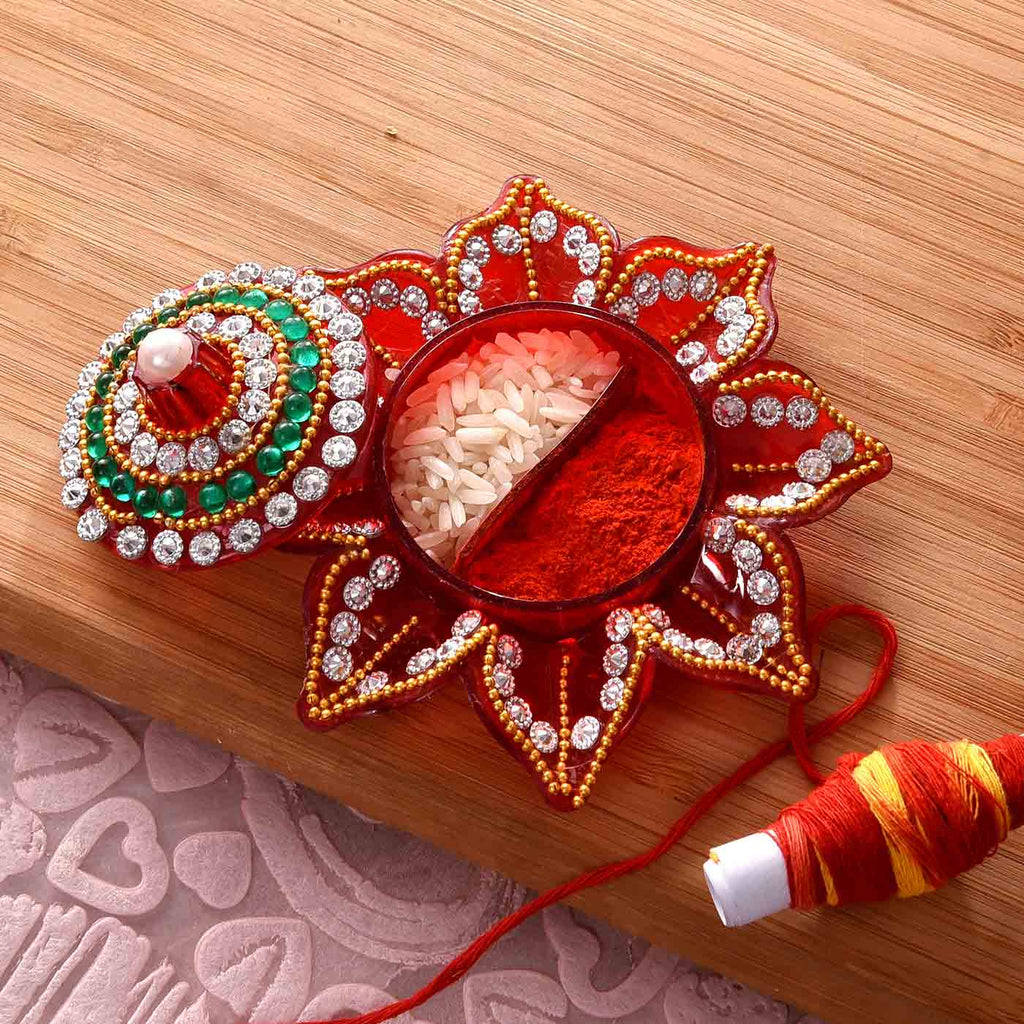Beautiful Floral Pattern Tikka Holder