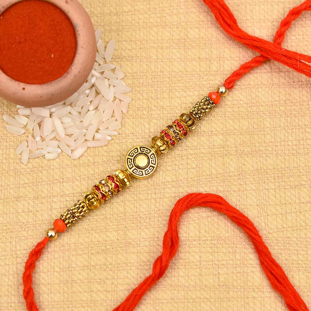 Attractive Metallic Look Stones Rakhi