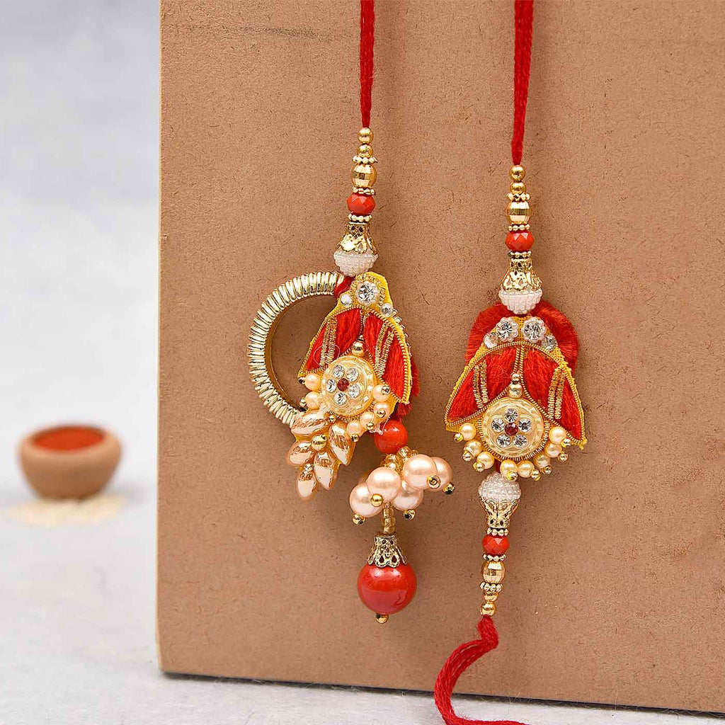 Awesome Pearls, Stones & Beads Rakhi