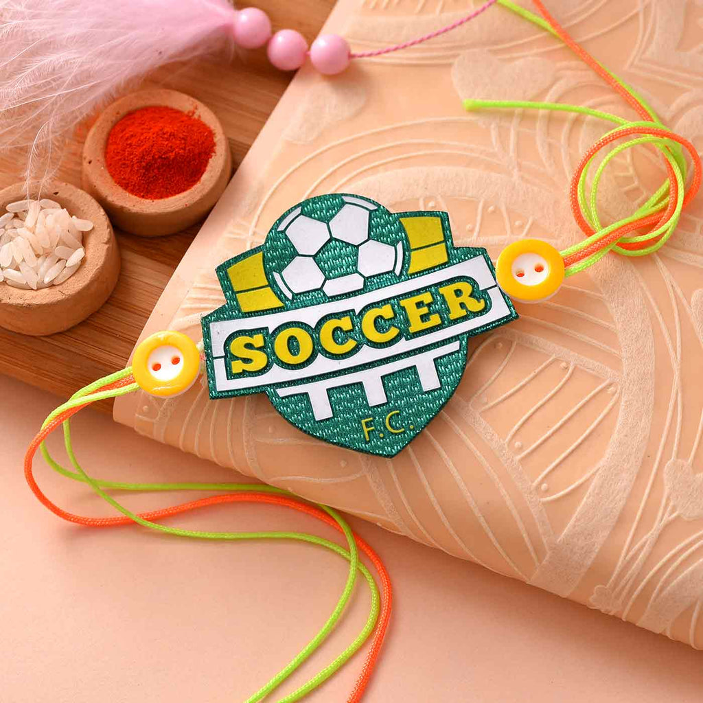 Trendy Soccer Rakhi For Brother