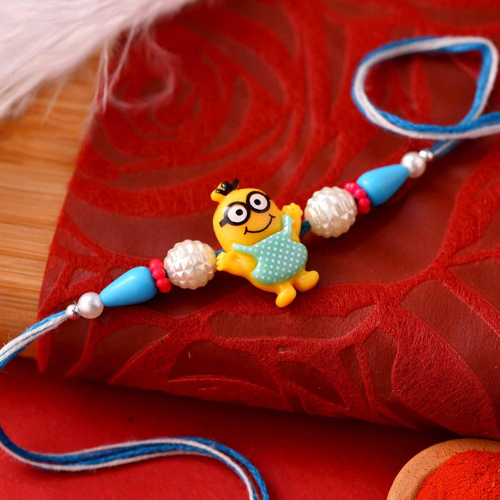 Funky Cartoon Character Beads Kid's Rakhi