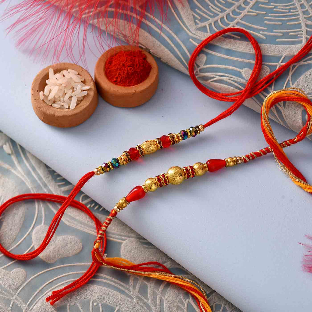 Incredible Beaded Set Of 2 Rakhis