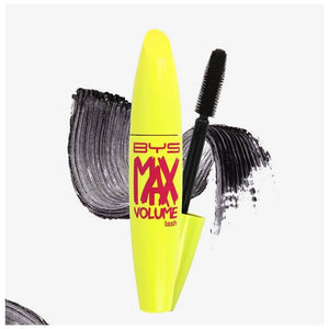 BYS Mascara Max Volume Lash Blackest Black Waterproof