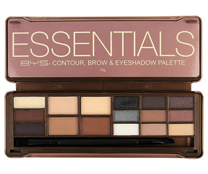 BYS, Essentials, Contour, Brow & Eye-shadow Palette