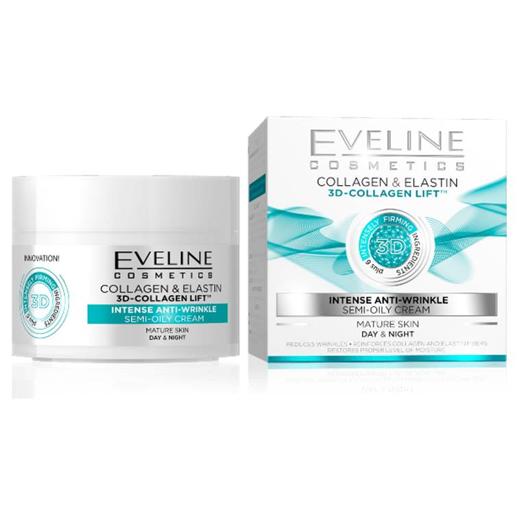 Eveline Collagen & Elastin 3D Lift Intense Anti-Wrinkle Day & Night Cream