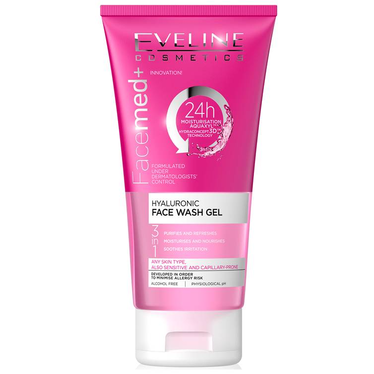 Eveline FaceMed+ Hyaluronic Face Wash Gel 150ml