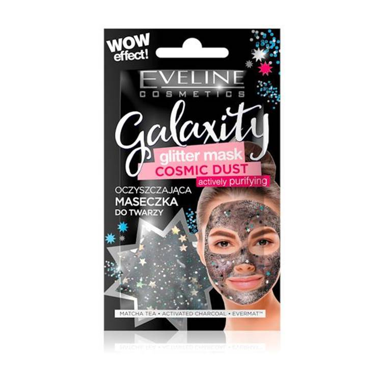 Eveline Glitter Face Sheet Mask Black 10 ml
